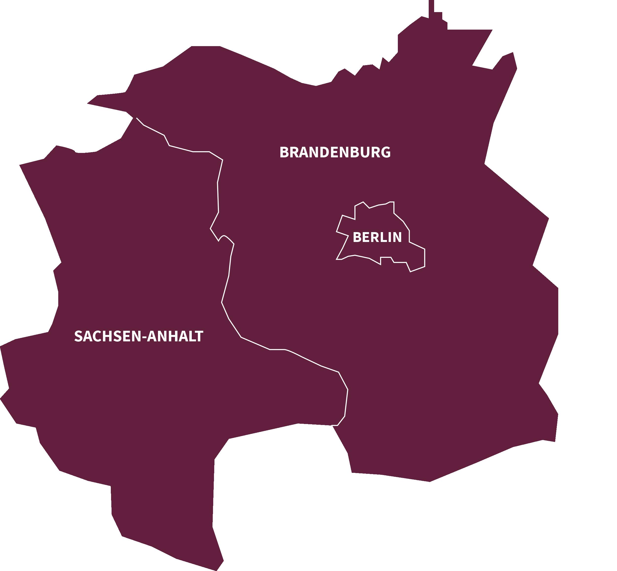 Hier kennen wir uns aus. Brandenburg, Berlin, Sachsen-Anhalt.